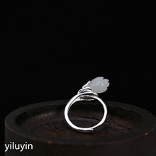 KJJEAXCMY boutique jewelry   S925 pure silver natural and Tian Yuyu orchid rings retro simple, fresh and versatile female ring o s925 pure silver wholesale contracted only beautiful lady topaz st2018 set of chains pure and fresh and euphemism
