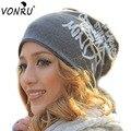 Мода Весна Осень Зима Женщины Hat Шарф Письма Хип-Хоп Женщины Шапочки Шляпы Хлопка Хеджирования Шапка Мужчины Бесплатная Доставка M51