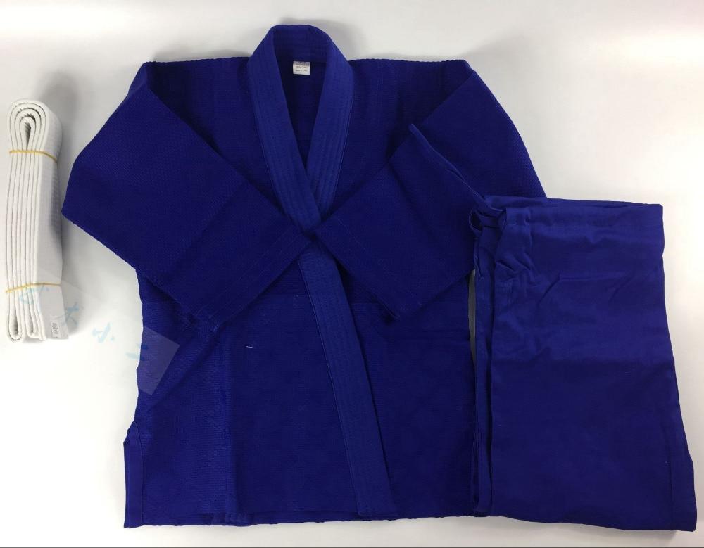 Здесь продается  100% Cotton Gladiator Judo Gi Uniforms Man and Woman Child Color White & Blue With Blet  Спорт и развлечения