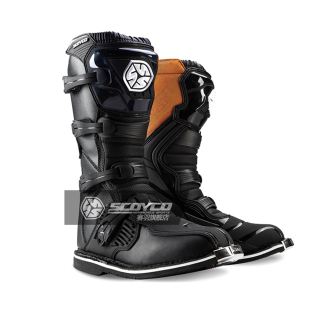 25ab75dd3b6 SCOYCO motorcycle Waterproof boots moto shoes bota motocross slip drop  resistance racing boot professional motorboats