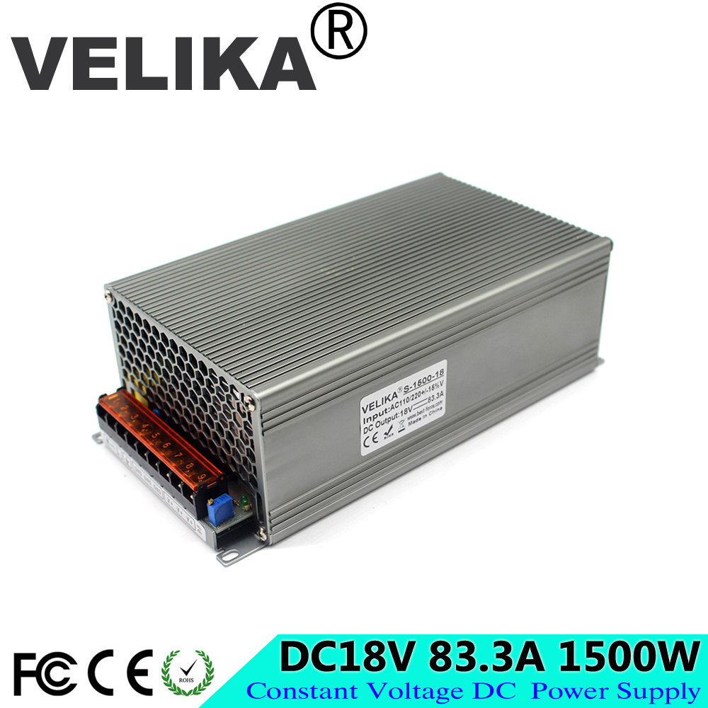 Universal 18V DC Power Supply Switching 83.3A 1500W Driver Transformers 110V 220V AC to DC18V SMPS for strip lamp Light CNC CCTV-in Switching Power Supply from Home Improvement    1