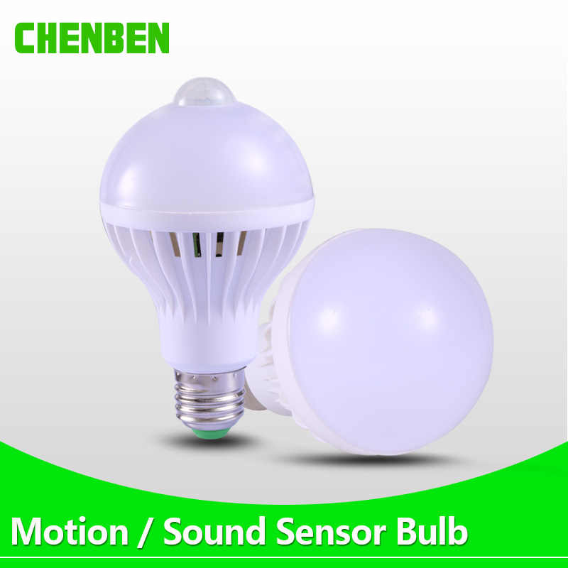 E27 Led Lamp Motion Sensor Bulb PIR Smart Home Bombillas LED Ampoule Bulbs Auto Infrared Body Lamps For Porch Hallway Lighting