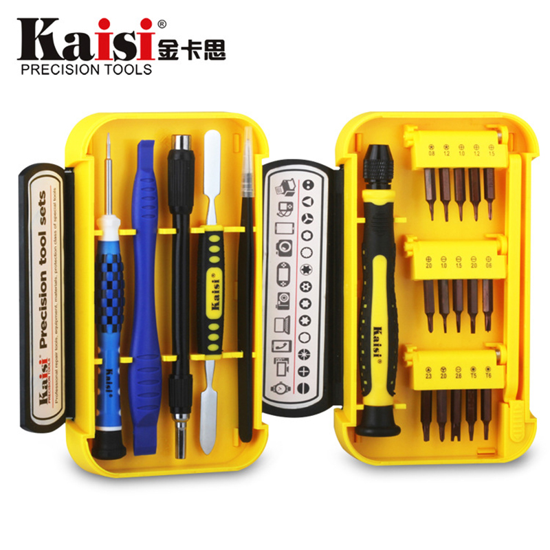 Kaisi 21 in 1 Screwdriver Sets Tools Multi-function Precision Screwdriver Computer Repair Tools Mobile Phone Repair for iPhone hot kaisi precision 51 in 1 screwdriver set of chrome vanadium steel disassemble household tools for iphone for ipad for mac