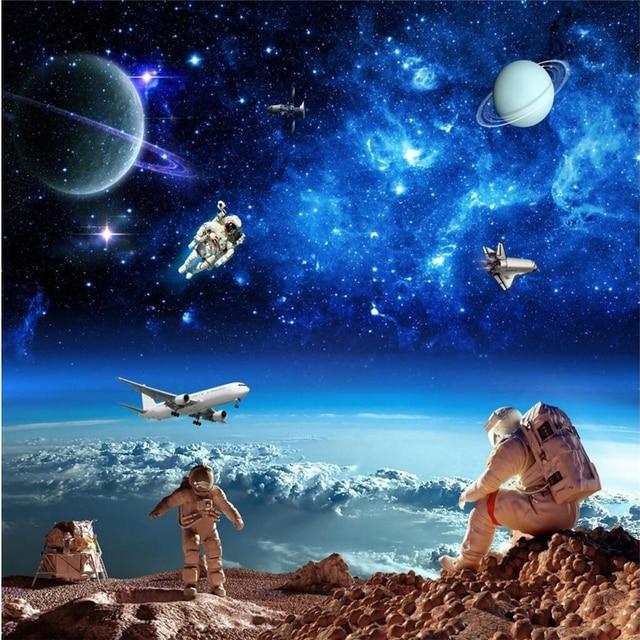 Beibehang Wallpaper Mural Universe Starry Galaxy Ceiling Background Wall Papel De Parede 3d Para Sala Atacado