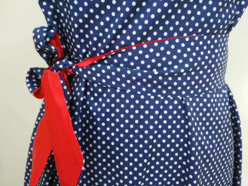2018 Summer Dress Polka Dot Vintage Dress Short Sleeve Sexy Women Midi Dress Casual Party Dresses  Plus Size GV173 5