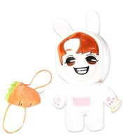 KPOP EXO Baekhyun White Rabbit Plush Toy 20cm/8 Handmade Stuffed Doll with Clothes