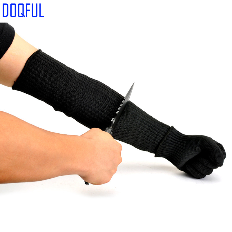 Safety Cut Proof Work Gloves And Stabproof Arm Sleeves Stainless Steel Wire Anti Knife Stabproof Hand Armband Protect Workplace