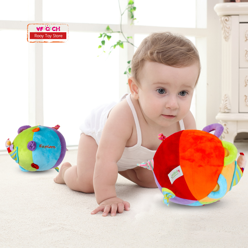Explore Ring Bell Ball Crib Stroller Hanging Infant Baby Rattle Cloth Multicolor Fun Ball Newborn Toys For Kids Education Gift