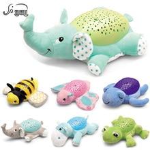 Shunhui свет в ночь luminou плюшевые игрушки детские плюша Животные Игрушечные лошадки w/музыка звезда лампа HYPNOTIC проектор игрушка для детей