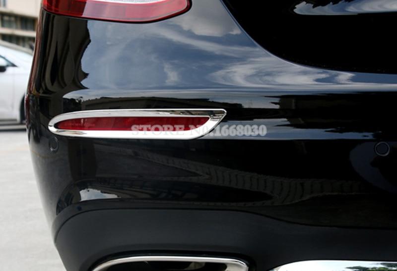 Zaslon zadnje luči za meglo ABS Chrome 2pcs za Mercedes Benz E - Dodatki za notranjost avtomobila - Fotografija 5