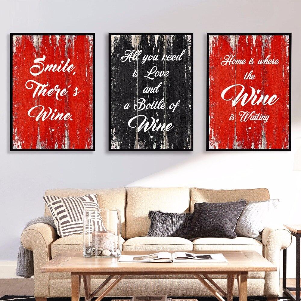 와인 보드 견적 작품 벽 예술 캔버스 그림 포스터 인쇄 거실 장식 홈 유화 장식