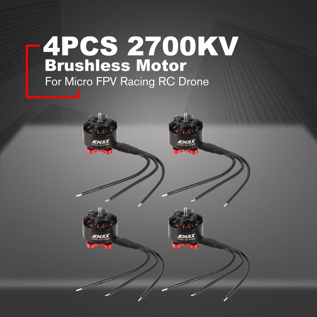 4 pcs Emax RS1306B 2700KV 3-4 S moteur sans brosse puissant léger pour pour Micro FPV Racing RC Drone quadrirotor pièces de rechange