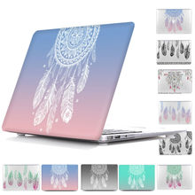 Dream catcher Feather Pattern Hard Laptop bag Case For Macbook Pro 13 Retina 12 15 ,Print Cover case For Macbook Air 13,Air 11