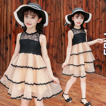 Get more info on the Girls Layered Mesh Lace Dress Children Wedding Party Dresses Kids Evening Ball Gowns Formal Baby Frocks Clothes for Girl