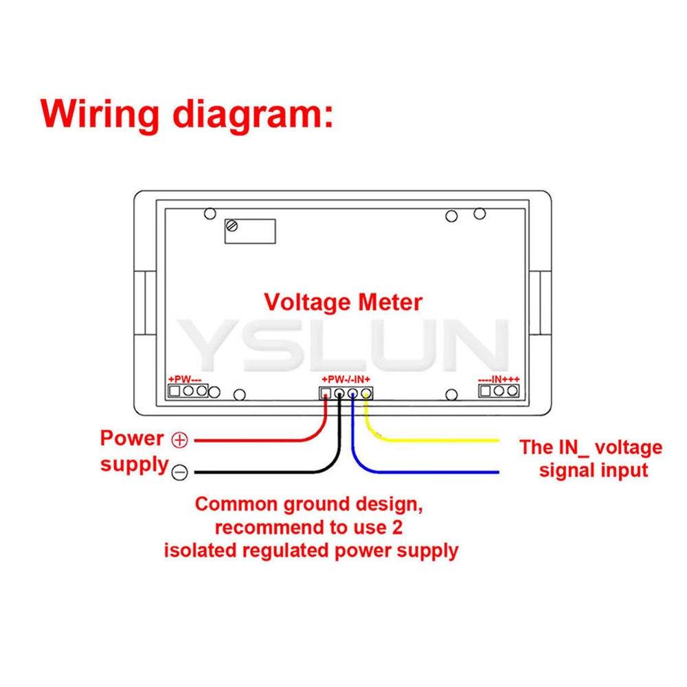 DC 0~200mV Digital Voltmeter Blue LCD Display Voltage Panel Meter AC/DC 8V  12V Volt Gauge Monitor Meter-in Voltage Meters from Tools on Aliexpress.com  ...