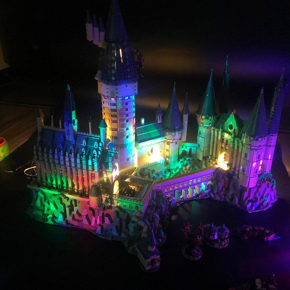 Led Lighting Set For 71043 Harry Film Compatible 16060 creator Hogwarts Castle Building Blocks Bricks (Only LED lights)