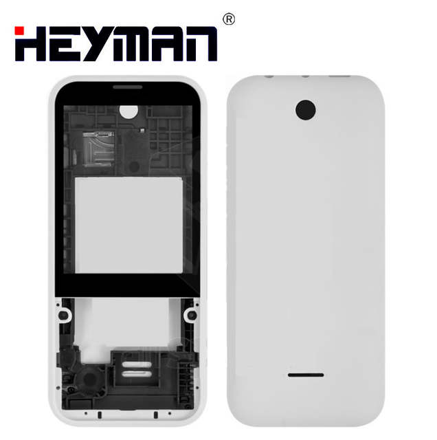 on sale 2e904 07ce1 US $6.5  Housing for Nokia 225 Dual Sim RM 1011 N225 Middle Front Frame  Bezel Frame Front Middle Plate Battery Back Cover-in Mobile Phone Housings  ...