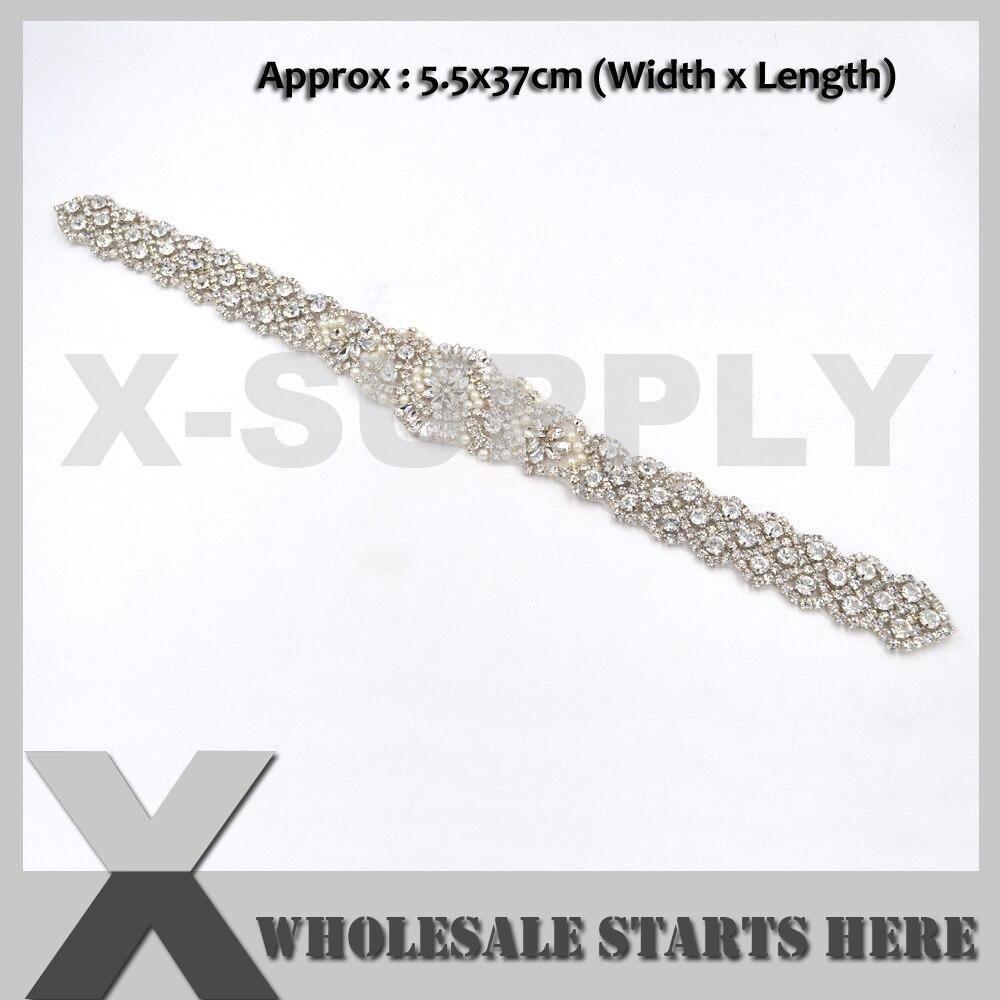 LONG likalnik na kristalno beaded obliž za poročne dodatke za - Umetnost, obrt in šivanje