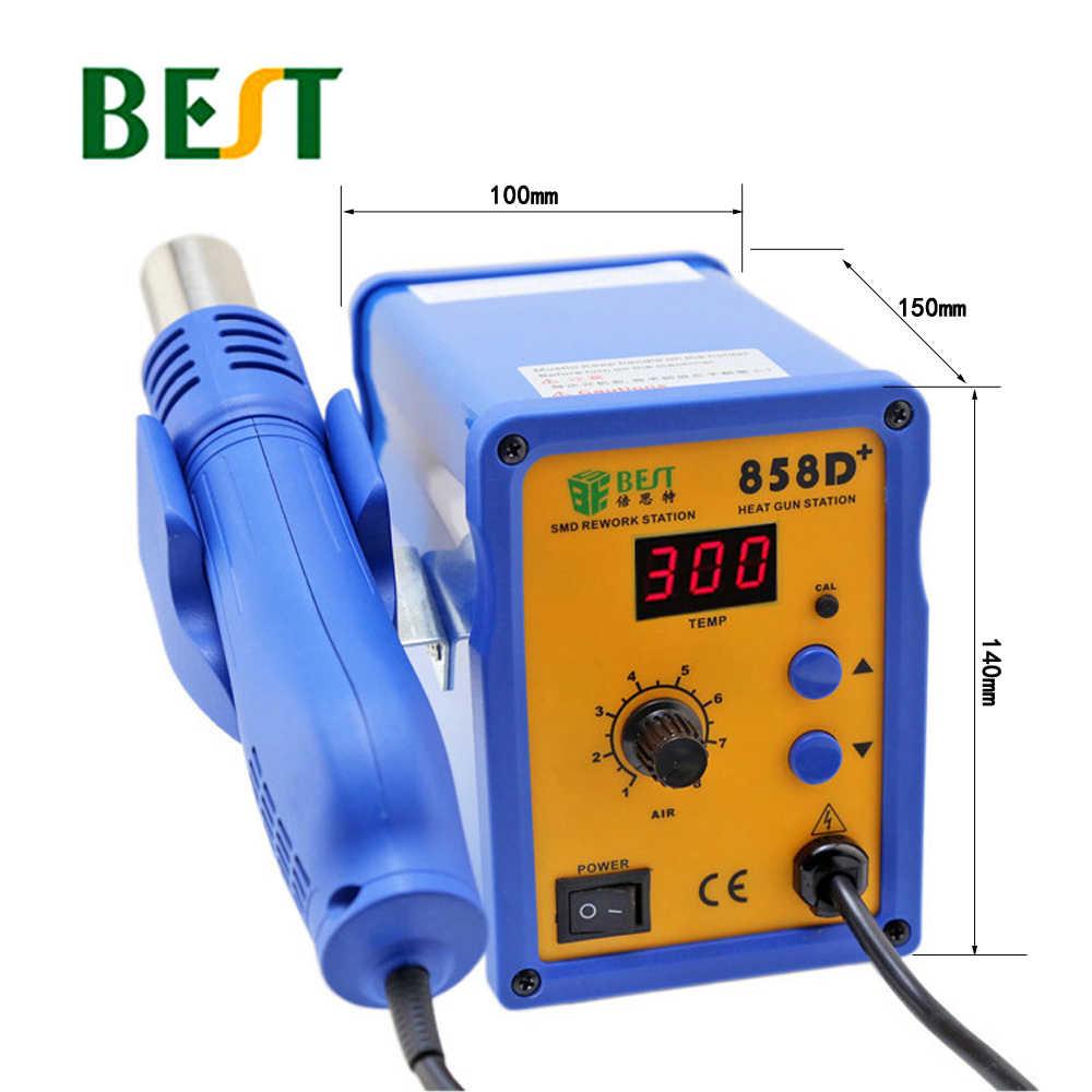 BEST-858D + регулируемый цифровой дисплей пайка горячим воздухом станции горячего воздуха воздуходувы мобильный телефон ремонт распайки станции