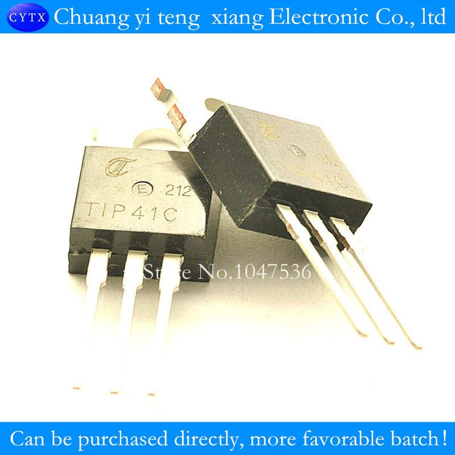 6PCS TIP41 TIP41C NPN TRANSISTOR 6A 100V TO-220 NEW