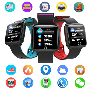 BL89 Color Screen Smart Bracelet Sport Bluetooth 4.0 Blood Pressure Monitor Smart Watch Waterproof For Men Male Sports Smartband