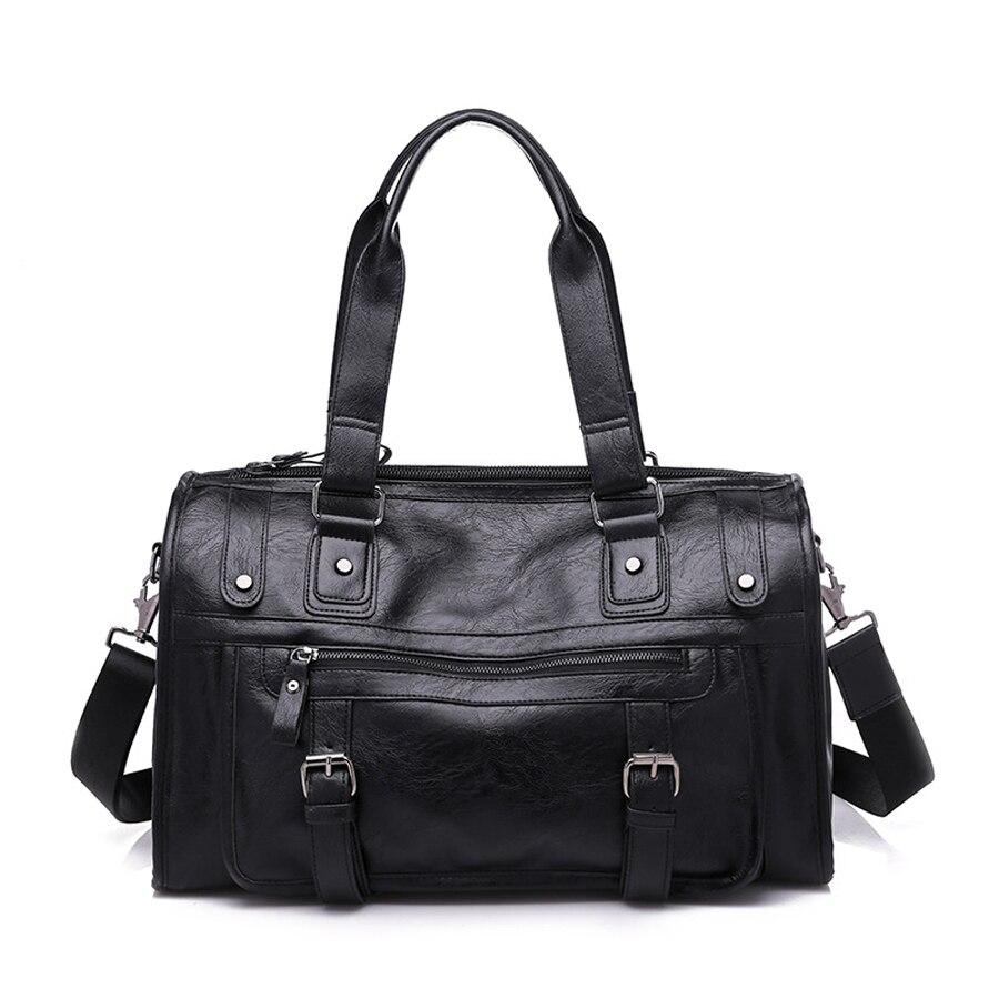 NEWBOLER 2019 Leather Sport Gym Bag Watherproof Male Luggage Handbag Woman Yoga Mate Shoulder bag 20l