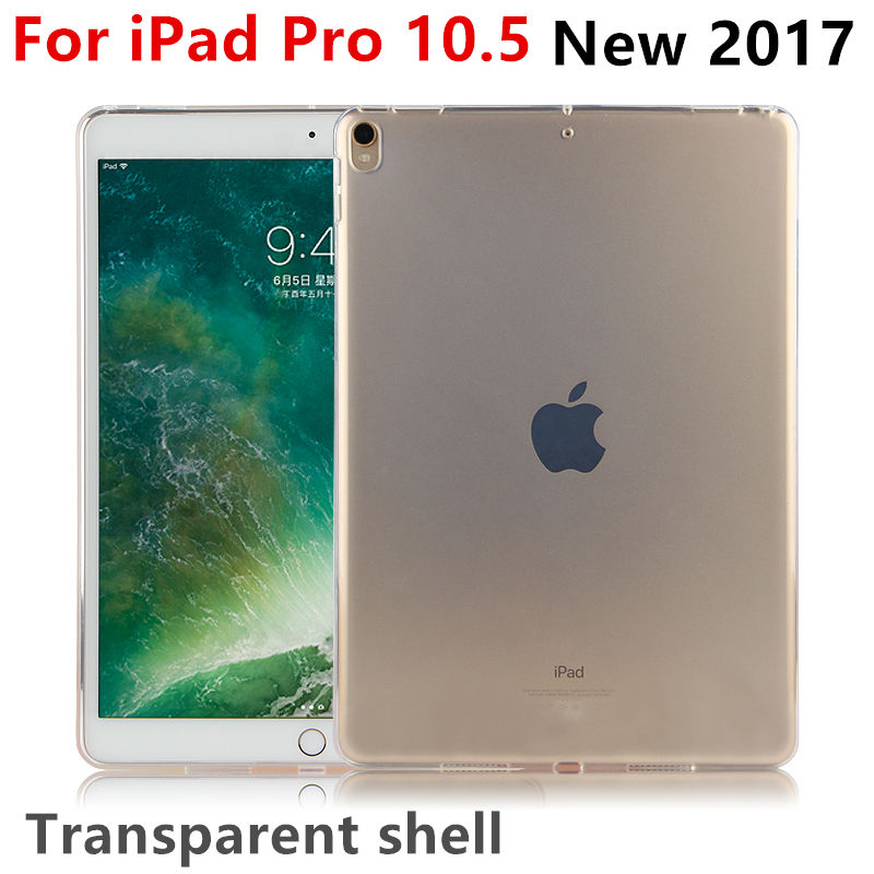 Case TPU For Apple iPad Pro 10.5 New 2017 Protective Smart cover Protector Leather For iPad pro10.5 PU Tablet Transparent shell