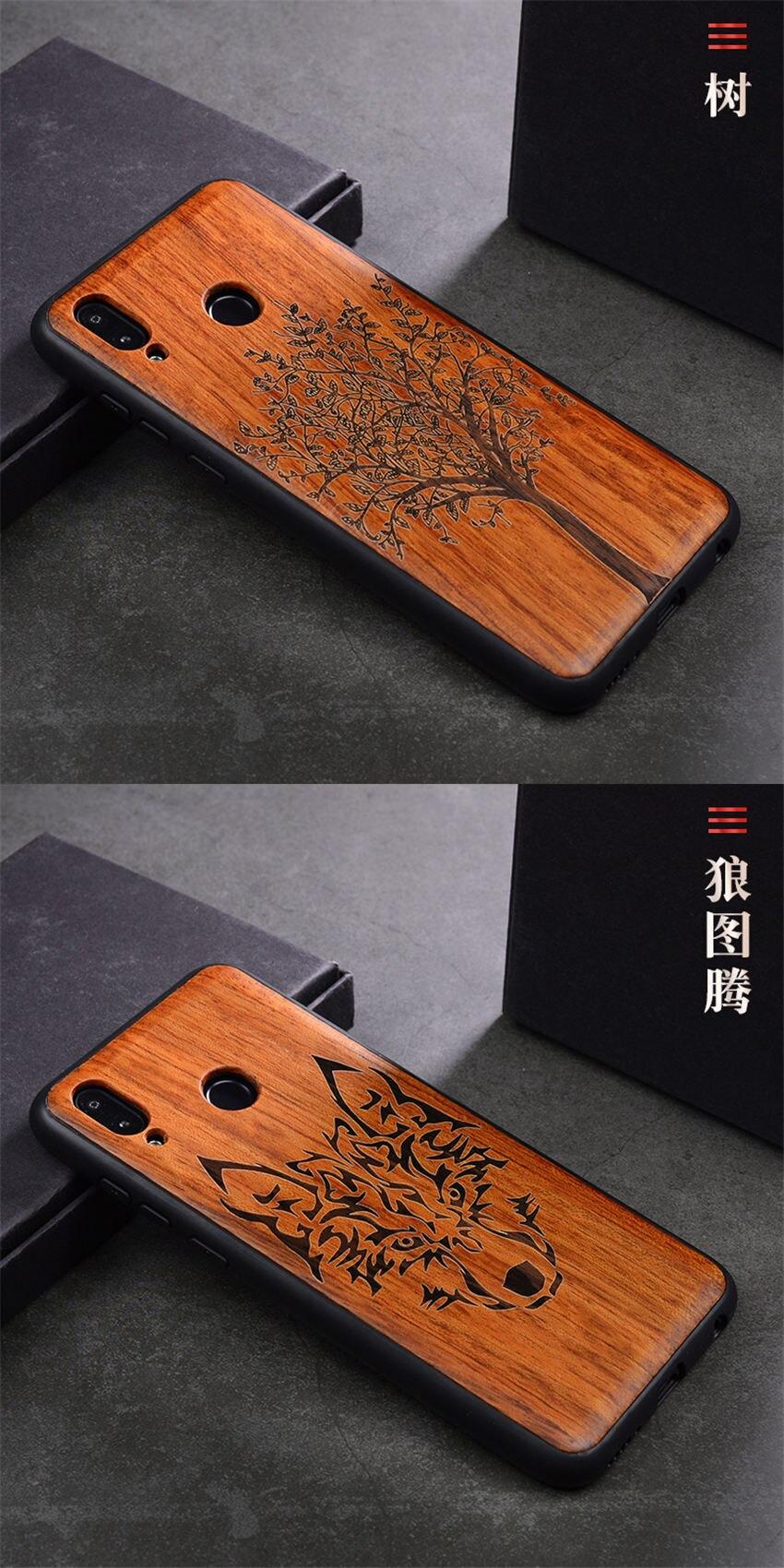 2018 New Huawei Honor 8x Case Slim Wood Back Cover TPU Bumper Case For Huawei Honor 8x Phone Cases Honor-8x (12)