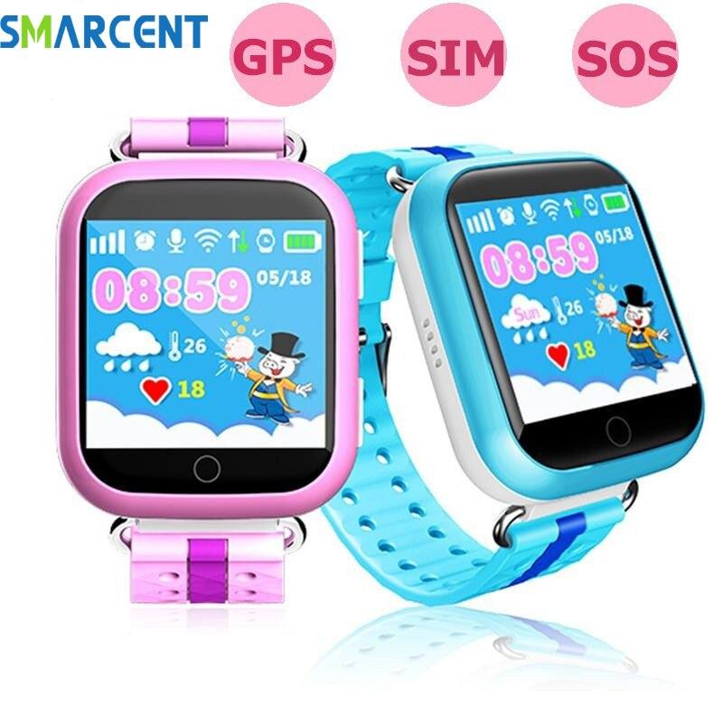 Smarcent q750 q100 GPS montre bébé intelligente enfants de enfants montre connectée Wifi SOS Dispositif Tracker chidren enfant montre gps montres intelligentes