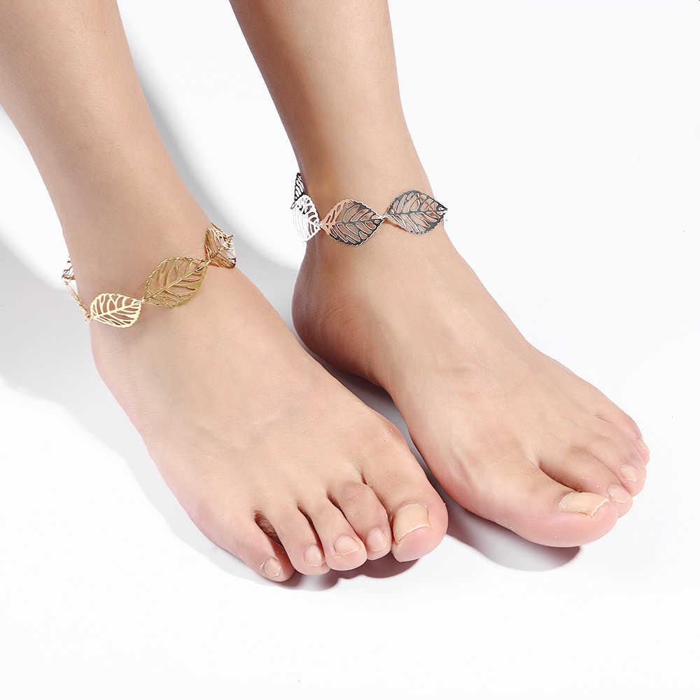 2017 ใหม่ล่าสุดแฟชั่นผู้หญิง Hollow Anklets ชายหาดรองเท้าแตะเท้ารองเท้าแตะเครื่องประดับ Nice ของขวัญฤดูร้อน Anklets เครื่องประดับ