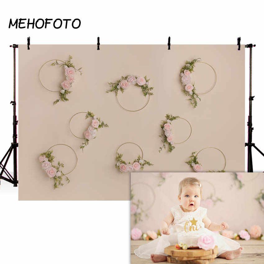 MEHOFOTO noworodek kwiatowy fotografia tła kwiat Studio fotograficzne zdjęcie tło dekoracje urodzinowe Prop