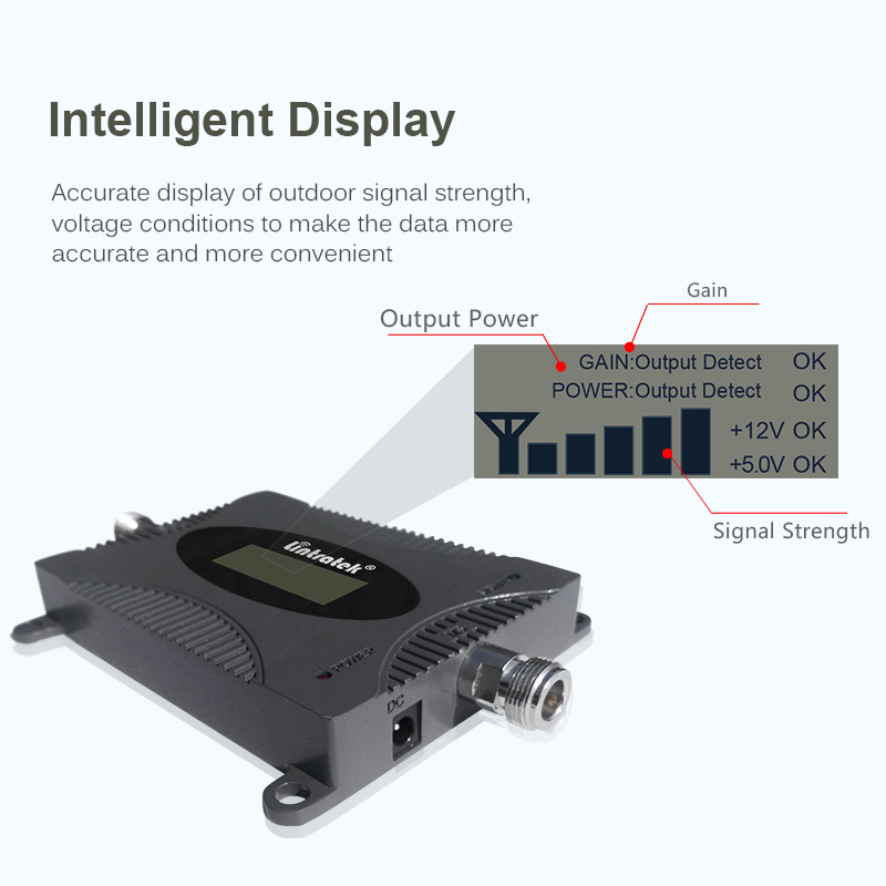 Image 3 - Lintratek 900Mhz GSM Signal Booster 2G Cellphone Signal Repeater GSM 900 65dB Amplifier LCD Display Full Kit KW16L GSM-in Signal Boosters from Cellphones & Telecommunications