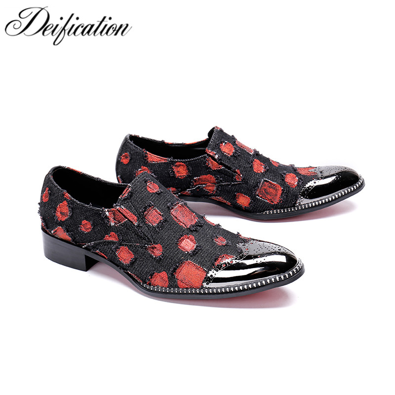 Deification Luxury Brand Men Loafers Mocassins Fashion Mixed Colors Italian Leather Shoes Men Slip On Men Casual Shoes Flats 47