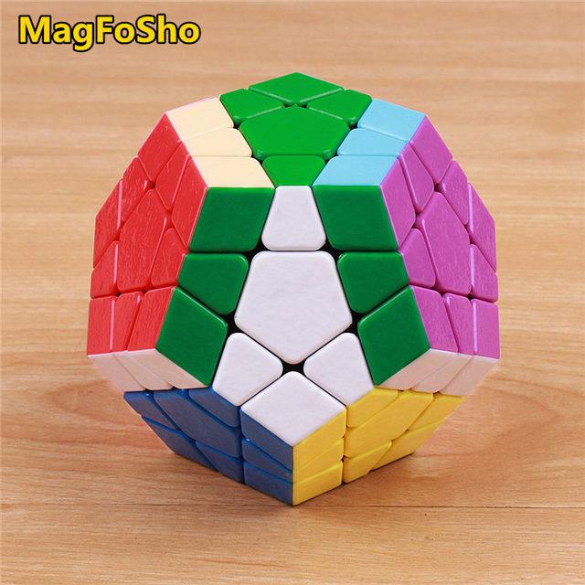 Shengshou MagFoSho Megaminxeds Magic Cube Speed Puzzle Cubes sticker less anti stress toys professional 12 sides cube 2