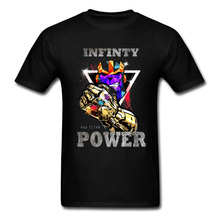 Marvel T-shirt Men Mad Titan Infinity Power T Shirt Mens Avengers War Tshirt Anime Attack On Corps Logo Tops Tees