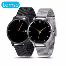 V360 Bluetooth Smart Uhr Edelstahl Band Pedometer Geste Uhr HD Touchscreen Smartwatch Für IOS Andriod Telefon