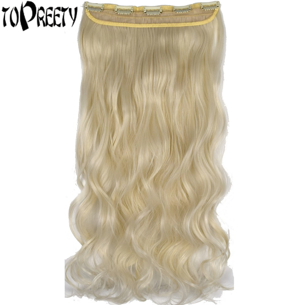 TOPREETY Heat Resistant B5 Synthetic Hair Fiber 120gr Body Wave 5 clips clip in Hair Extensions 5008