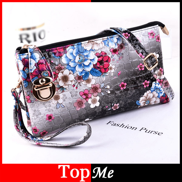 Women Handbags Plaid Flower Envelope Messenger Bag Zipper Hasp Cross Body Shoulder Bags Lady Girls Keys Phone Purses Leather Bag