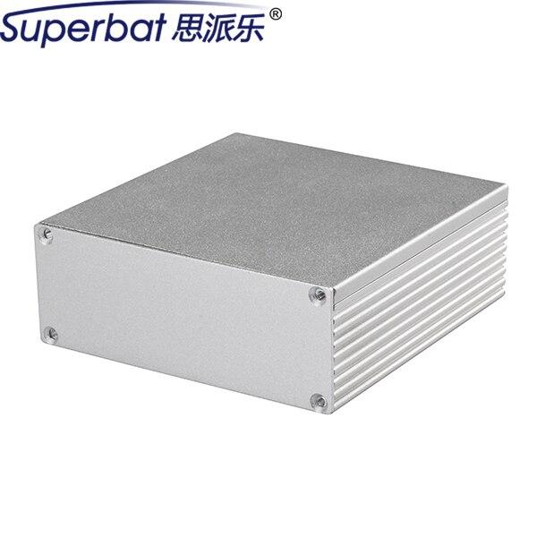 """Superbat 4.33 ''* 4.33'' * 1.57 """"Instrumento Caja de Conexiones de Aluminio Caja de Proyecto Electrónico PCB Amplificador DIY 110*110*40mm"""
