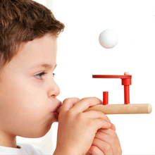 Blowing Ball Game wooden toys Classic early childhood educational toys for children