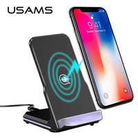 For iPhone X 8 8 Plus Wireless charger Docking Dock 5V 2A USAMS Metal Original Qi Wireless charging for Samsung Galaxy S8/S8+/S7
