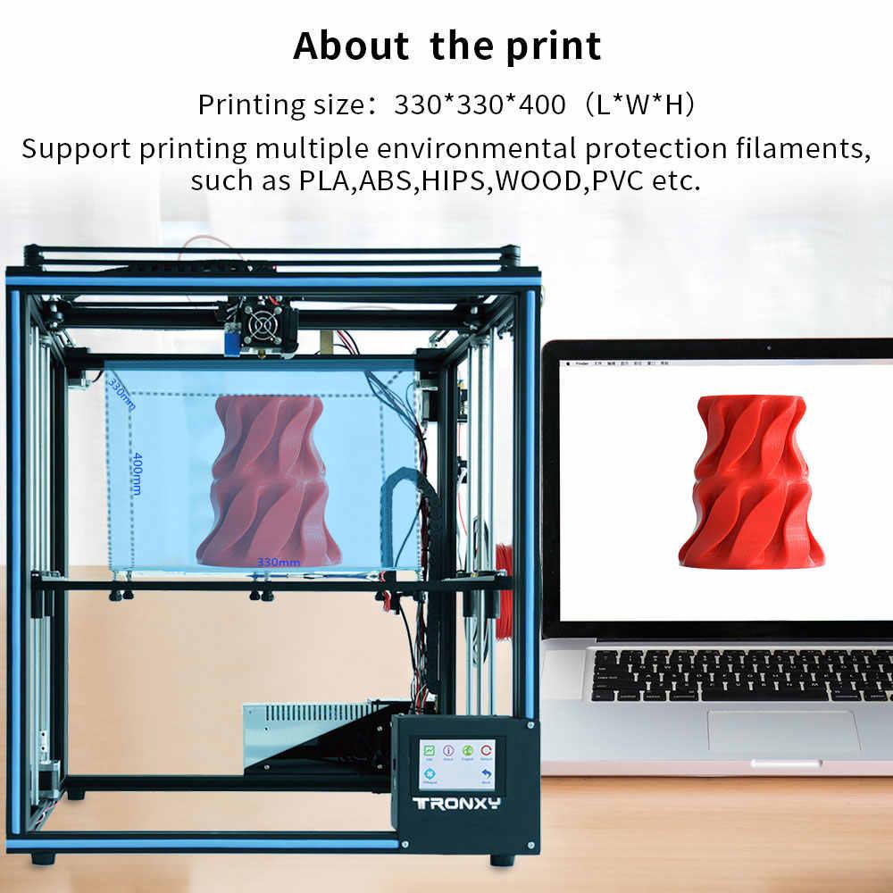 Tronxy X5SA PRO/X5SA-400/X5SA 3D เครื่องพิมพ์ชุด DIY หน้าจอสัมผัส Auto Level ขนาดใหญ่พิมพ์ความร้อน 3D เครื่อง Filament SENSOR