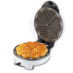 220V White Color Multifunctional Breakfast Machine Non-stick 8 Optional Plates Household Waffle Donut Cake Maker Machine