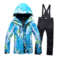 High Quality 2016 ski suit women Breathable Waterproof Ski Jacket womens Snow Sets Winter ski suit Thicken Warm Snowboard Jacket