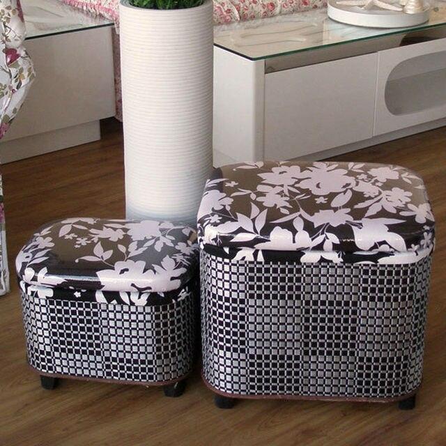 Hermosa Tejido De Almacenamiento De Muebles Otomana Cresta - Muebles ...