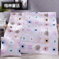 Pink Cute Cartoon Pattern Square Soft Bolster Blanket Two Uses Cushion Good Quality Pillow Summer Quilt