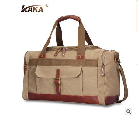 KAKA Canvas Men Travel Bags Luxury Brand Multifunction Men Business Travel Duffle Men luggage Bags Travel Tote Men Shoulder Bags