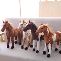 30-60 см моделирование лошадь плюшевые игрушки милые укомплектованные животные игрушка зебра Мягкая Реалистичная лошадь игрушка Дети подаро...