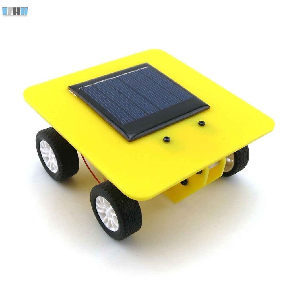 EFHH Creative novelty font b Science b font Educational DIY SOLAR Energy Vehicle Car Toy Kit