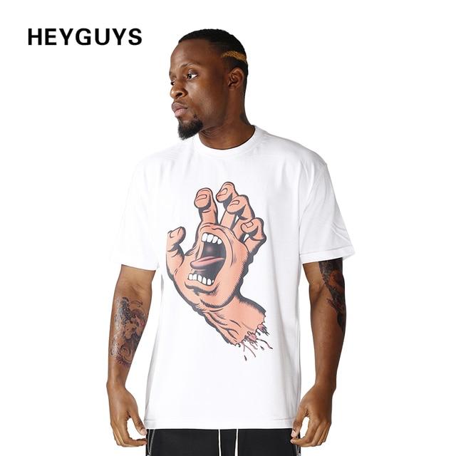 Visualizzza di più. HEYGUYS mano con la bocca magliette da uomo hiphop  street fashion t-shirt manica africano a23b9a7a4f2